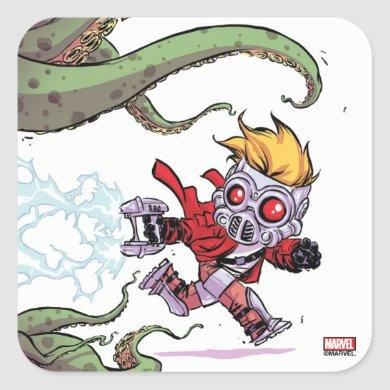 Guardians of the Galaxy | Star-Lord Gets Away Square Sticker
