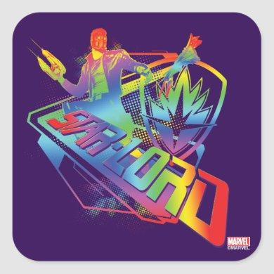 Guardians of the Galaxy | Star-Lord Neon Graphic Square Sticker