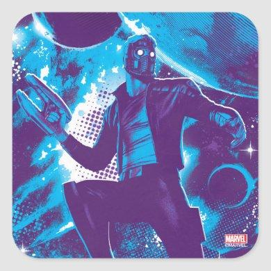 Guardians of the Galaxy | Star-Lord On Planet Square Sticker