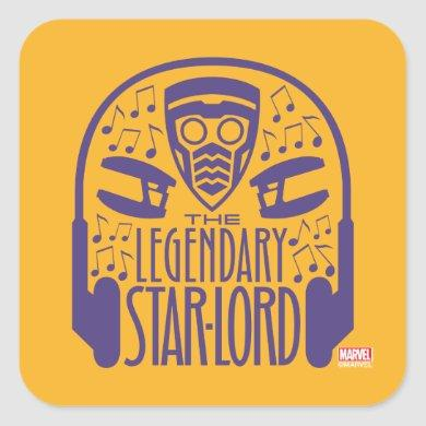 Guardians of the Galaxy | The Legendary Star-Lord Square Sticker