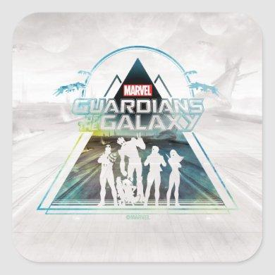 Guardians of the Galaxy | Triangle Outline Crew Square Sticker