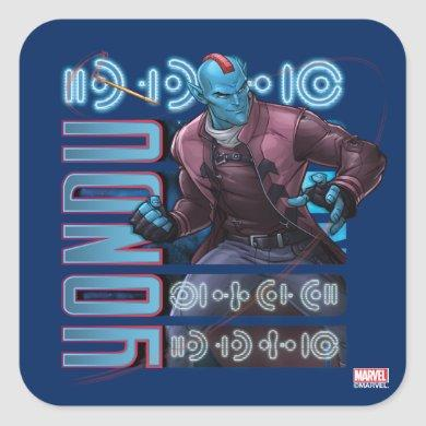 Guardians of the Galaxy | Yondu Character Badge Square Sticker