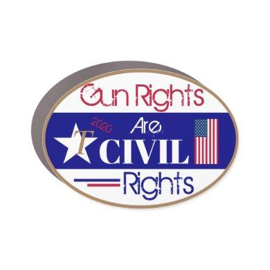 Gun Rights are Civil Rights Car Magnet