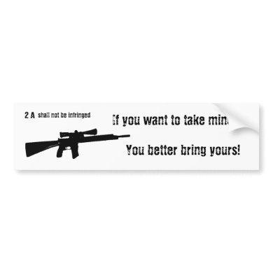 Gun Rights Supporter Pro Second Amendment 2 A Bumper Sticker