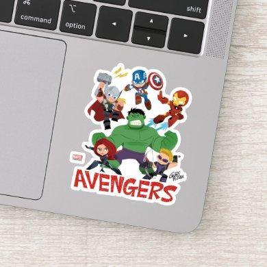Guri Hiru Avengers Sticker