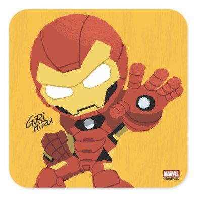 Guri Hiru Iron Man Square Sticker