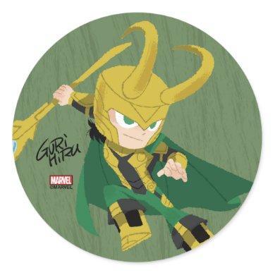 Guri Hiru Loki Classic Round Sticker