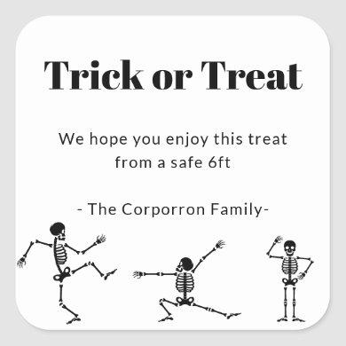 Halloween Social Distancing Candy Stickers