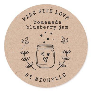 Handmade With Love jam label canning Sticker