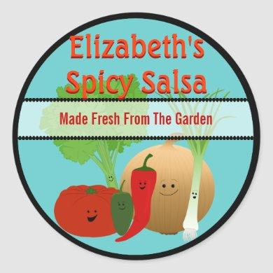 Happy Fresh Salsa Gift Tag