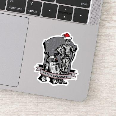 Happy Holidays From R2-D2 & C-2PO Sticker