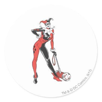 Harley Quinn 2 Classic Round Sticker