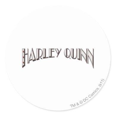 Harley Quinn - Logo Classic Round Sticker