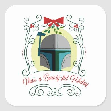 Have a Bounty-ful Holiday Square Sticker