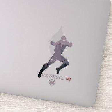 Hawkeye Heroic Silhouette Sticker