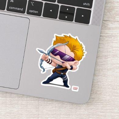 Hawkeye Stylized Art Sticker