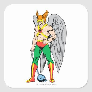 Hawkman Standing Pose Square Sticker