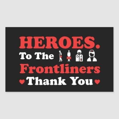 Heroes | Frontliners | Thank You Rectangular Sticker