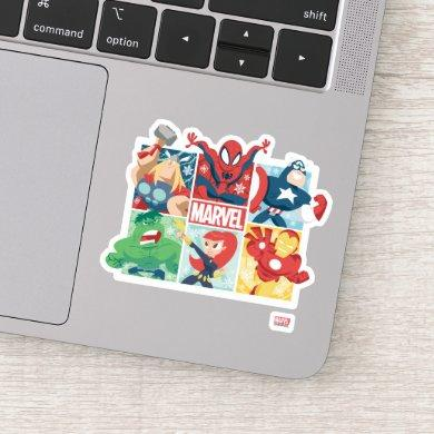 Holiday Marvel Hero Panel Graphic Sticker