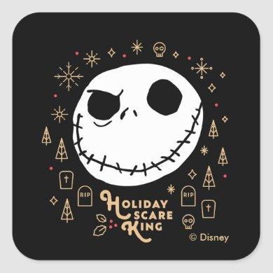 Holiday Scare King Square Sticker
