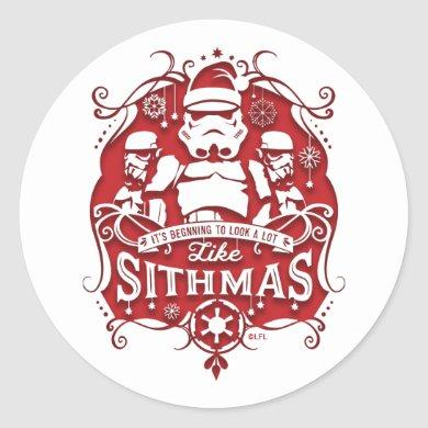 Holiday Stormtroopers Sithmas Design Classic Round Sticker
