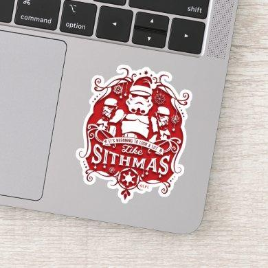 Holiday Stormtroopers Sithmas Design Sticker