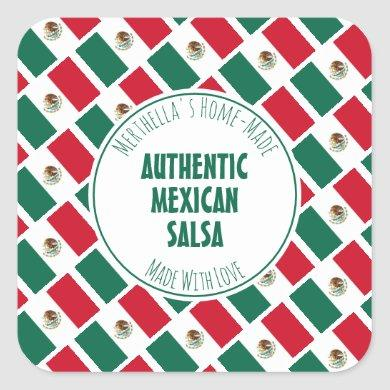 Home Made AUTHENTIC MEXICAN SALSA Square Sticker