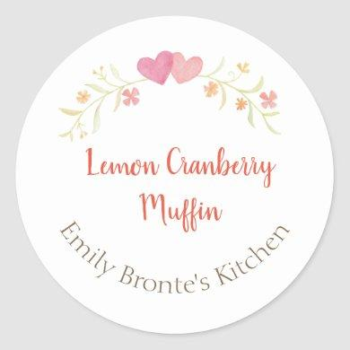 Homemade Baked Goods Preserve Handmade Candle Classic Round Sticker