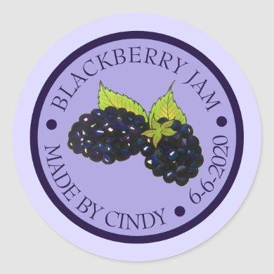 Homemade Blackberry Jam Jelly Preserves Canned By Classic Round Sticker