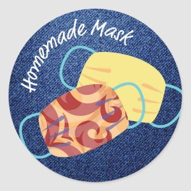 Homemade Mask Merit Badge Classic Round Sticker