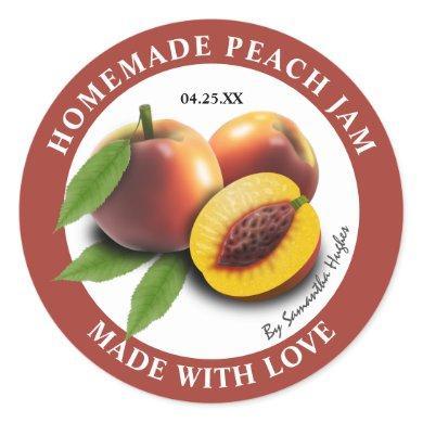 Homemade Peach Jam Labels