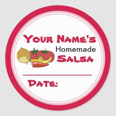 Homemade Salsa Canning Jar Lid Labels Stickers