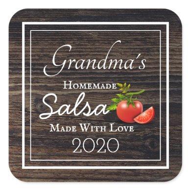 Homemade Salsa Personalized Square Sticker