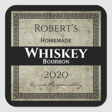 Homemade Whiskey Personalized Square Sticker