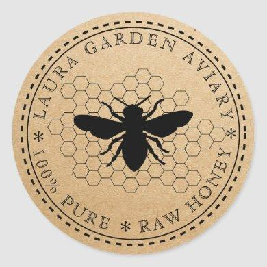 Honey jar lid label for Bee Comb Apiary