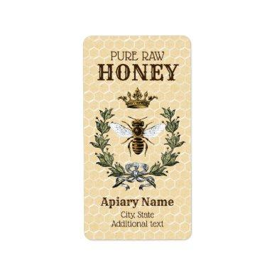 Honeybee  Apiary Crown and Wreath Label