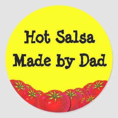 Hot Salsa Retro Custom Canning Labels