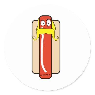 Hotdog Hulk Hogan Classic Round Sticker
