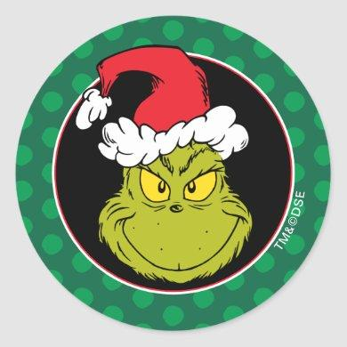 How the Grinch Stole Christmas | Naughty Grinch Classic Round Sticker