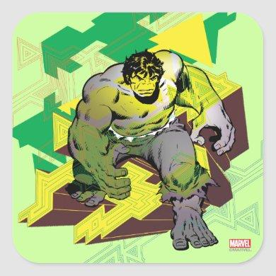 Hulk Abstract Graphic Square Sticker