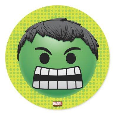Hulk Emoji Classic Round Sticker