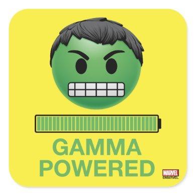 Hulk Gamma Powered Emoji Square Sticker