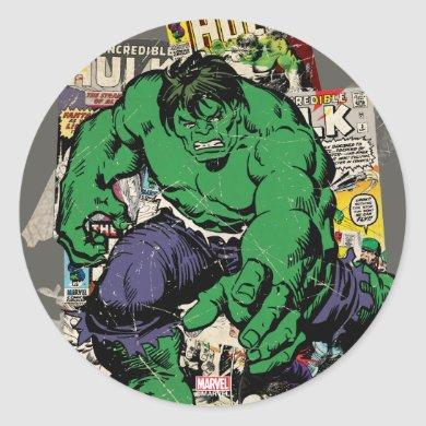 Hulk Retro Comic Graphic Classic Round Sticker