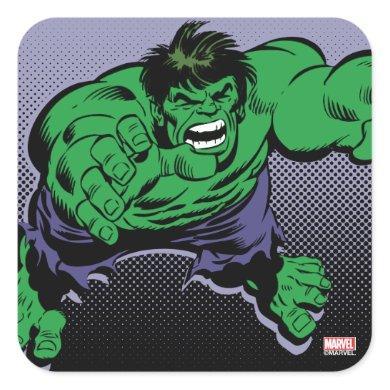 Hulk Retro Dive Square Sticker