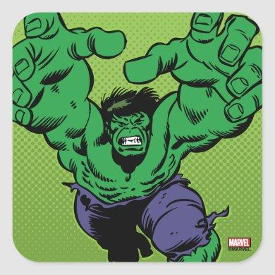 Hulk Retro Grab Square Sticker