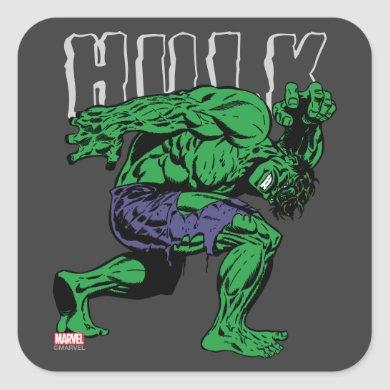 Hulk Retro Lift Square Sticker