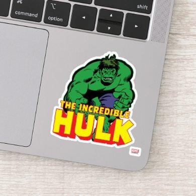 Hulk Retro Stomp Sticker