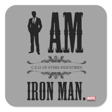 I Am Iron Man Square Sticker