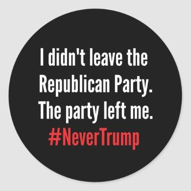 I Didn't Leave the Republican Party Sticker