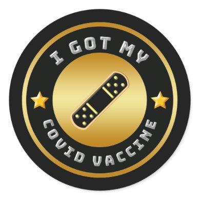 I Got My COVID Vaccine Vaccination  Classic Round Sticker